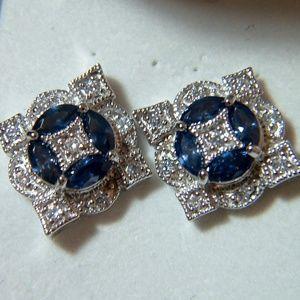 Jewelry - Antique Art Deco Style Sterling Silver Earrings